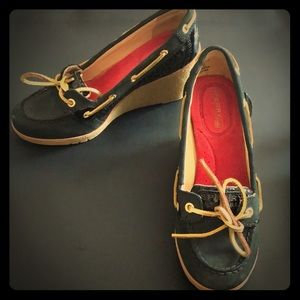 Sperry topsider wedge shoes 5.5M